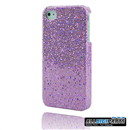 New Purple Bling Shining Case Skin Cover for iPhone 4 4G 4S