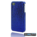 New Dark Blue Bling Shining Case Skin Cover for iPhone 4 4G 4S