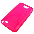 Pink X-Line Curve TPU Gel Case Cover For Samsung Galaxy Note II 2 N7100