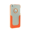 Orange U-Line Clear Back Hard Case Cover for Apple iPhone 5 5G 5th Gen New