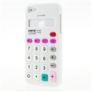 White Calculator Style Silicone Soft Case Cover for Apple iPhone 5 5G Gen