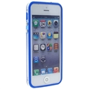 Blue Clear Bumper Frame TPU Silicone Soft Case Cover for the New iPhone 5G 5th Gen