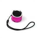 Mini Speaker Portable Micro SD TF MP3 Music Player  Hot Pink