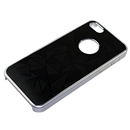 Black Metal Triangle Pattern Bumper Case Cover for Apple iPhone 5 5G 5th Gen
