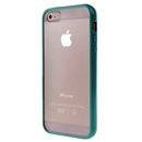 Hot Style Blackish Green Bumper Skin Case With Clear Back Cover For iPhone 5 iphone5