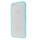 Hot Style Blue Bumper Skin Case With Frosted Clear Back Cover For iPhone 5 5G 5th Gen