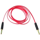 3FT 3.5mm Male M/M Stereo Plug Jack Audio Flat Extension Cable For Phone PC MP3 Red