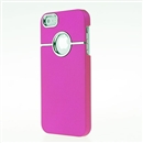 Deluxe Pink with Chrome Hole Snap-on Hard Cover Case for Apple iPhone 5 5G iPhone5 New