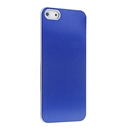 Blue METAL Aluminum Wire Drawing Snap-On Hard Case Cover for Apple iPhone 5 5G 5th Gen