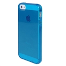 Blue Smooth Surface Transparent TPU Gel Soft Case Cover Skin For Apple iphone 5 5G 5th