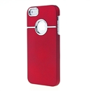 Deluxe Red with Chrome Hole Snap-on Hard Cover Case for Apple iPhone 5 5G iPhone5 New
