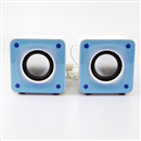 3D Sound 2 Channel USB Speaker System for Laptop Notebook Tablet PC MP3 MP4 Blue