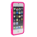 Pink Clear S Line Flexible TPU Case Skin Cover with Hole for Apple iPhone 5 5th Gen