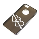 Gray Translucent White Dual Hearts Ultra Thin Hard Case Cover for Apple iPhone 5 5G 5th Gen