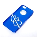 Blue Translucent White Dual Hearts Ultra Thin Hard Case Cover for Apple iPhone 5 5G 5th Gen