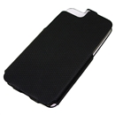 Black Anti-skid Stripe Leather Flip Snap-On Case Cover for Apple iPhone 5 5G 5th Gen