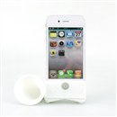 Portable Speaker Amplifier Horn Stand Audio Dock for Apple iPhone 4 4G 4S white