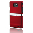 Back Case Stand Cover With Chrome for Samsung Galaxy S II S2 i9100 Red