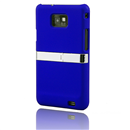 Back Case Stand Cover With Chrome for Samsung Galaxy S II S2 i9100 Blue