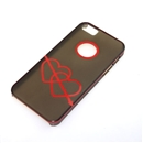 Gray Translucent Red Dual Hearts Ultra Thin Hard Case Cover for Apple iPhone 5 5G 5th Gen