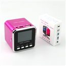 Mini Speaker Portable Micro SD TF MP3 Music Player FM Radio USB Disk-Hot Pink