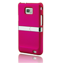 Back Case Stand Cover With Chrome for Samsung Galaxy S II S2 i9100 Rosy