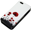 White Flower Painting Design Colorful Hard Case Cover for Apple iPhone 5 5G 5th Gen