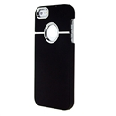 Deluxe Black with Chrome Snap-on Hard Cover Case for Apple iPhone 5 5G iPhone5 New