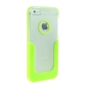 Bright Green U-Line Clear Back Hard Case Cover for Apple iPhone 5 5G 5th Gen New
