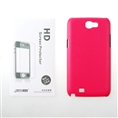 New Pink Hard Cover Case + LCD Protector For Samsung Galaxy Note 2 N7100