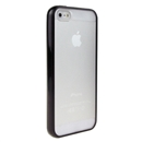 Hot Style Black Bumper Skin Case With Frosted Clear Back Cover For iPhone 5 New iphone5