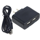 Wall Charger 5v 2.1a 1a Dual USB with USB to Micor USB Cable 1M