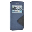 Flip View Magnets Smart Leather Wallet Stand Case For iphone6 4.7 Deep blue