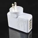 4-Port USB Home Wall Travel AC Charger Power Adapter US for iPad-Tablet