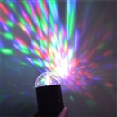 3W Colorful LED Crystal Rotating RGB Stage Light DJ Disco Lamp