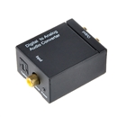 Digital Optical Coaxial Toslink Signal to Analog Audio Converter Adapter RCA L/R  Black