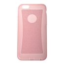 Transparent Soft Clear Glitter TPU Silicone Cover Case for Apple iPhone 6 4.7 pink