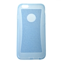 Transparent Soft Clear Glitter TPU Silicone Cover Case for Apple iPhone 6 4.7 blue
