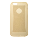 Transparent Soft Clear Glitter TPU Silicone Cover Case for Apple iPhone 6 4.7 golden