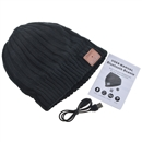 Black Warm Beanie Hat Wireless Bluetooth Smart Cap Headphone Headset Speaker Mic SK-H002B