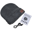 Gray Warm Beanie Hat Wireless Bluetooth Smart Cap Headphone Headset Speaker Mic SK-H003B