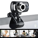 USB 5 Mega Pixel Sharp 3 LED HD Webcam Camera With Microphone Mic For PC Laptop