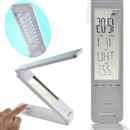 Foldable LED Light Touch-Controlled Calendar Clock Portable Reading Desk Lamp