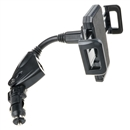 Dual USB 2-Port Car Charger Cell Phone Mount Holder for Note 4 iPhone 6+/5S