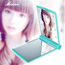 Cool 8 LED Lights Lamps Makeup Cosmetic Folding Portable Pocket Mirror blue