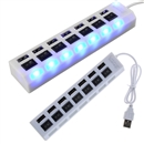 7 Port USB 2.0 Power Hub High Speed Adapter Separated w/ ON/OFF Switch Laptop PC white