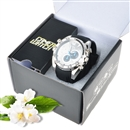 16GB 1080P HD Spy Camera Watch Metal DVR Hidden Recorder Night Vision IR LED