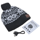 Black Warm Beanie Hat Wireless Bluetooth Smart Cap Headphone Headset Speaker Mic SK-H009B