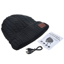 Black Warm Beanie Hat Wireless Bluetooth Smart Cap Headphone Headset Speaker Mic SK-H032B
