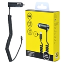 Rapid Fast Dual Output w/ Led Light Micro USB Vehicle Car Charger For Verizon Black